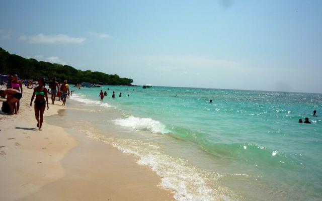 A paradisíaca Playa Blanca, na Isla Baru
