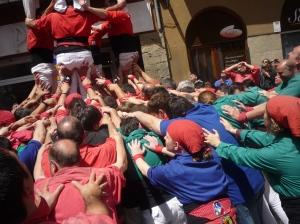 Apresentação dos Castellers de Barcelona em Berga